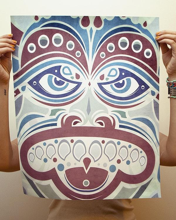 Dragon Face Print