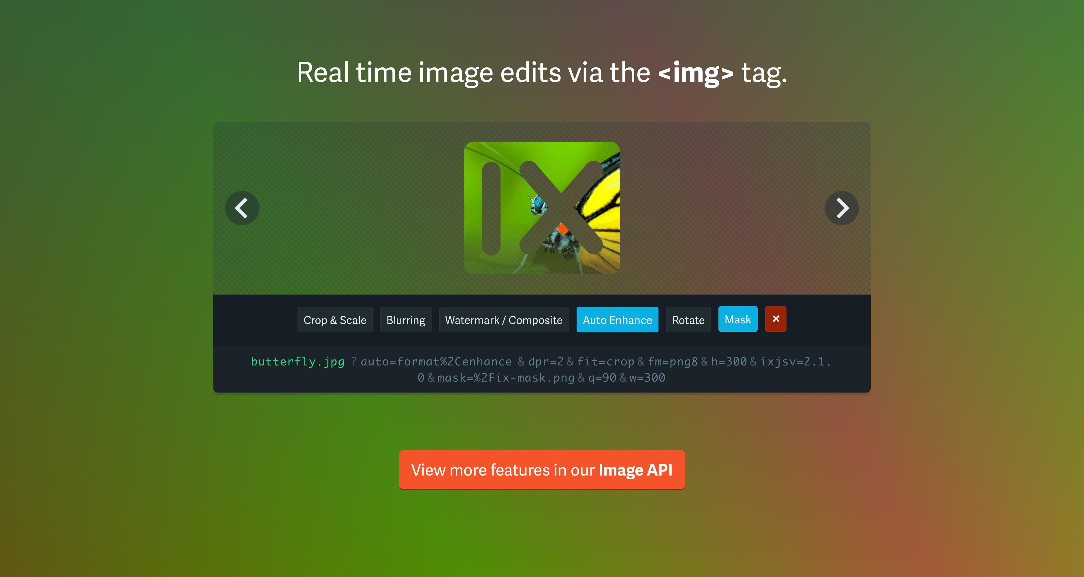 imgix Homepage API Showcase